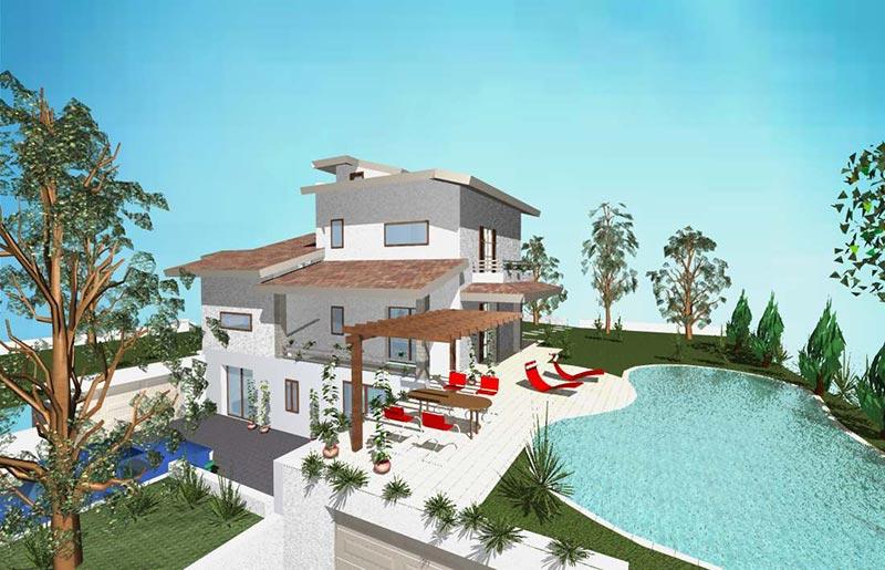Villa in collina studio di progettazione caiola for Ville in collina